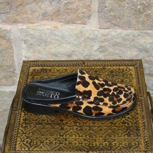 d9c9b04db54 Franco Sarto Shoes - Franco Sarto Calf Hair Leopard Mules Shoes Size 7